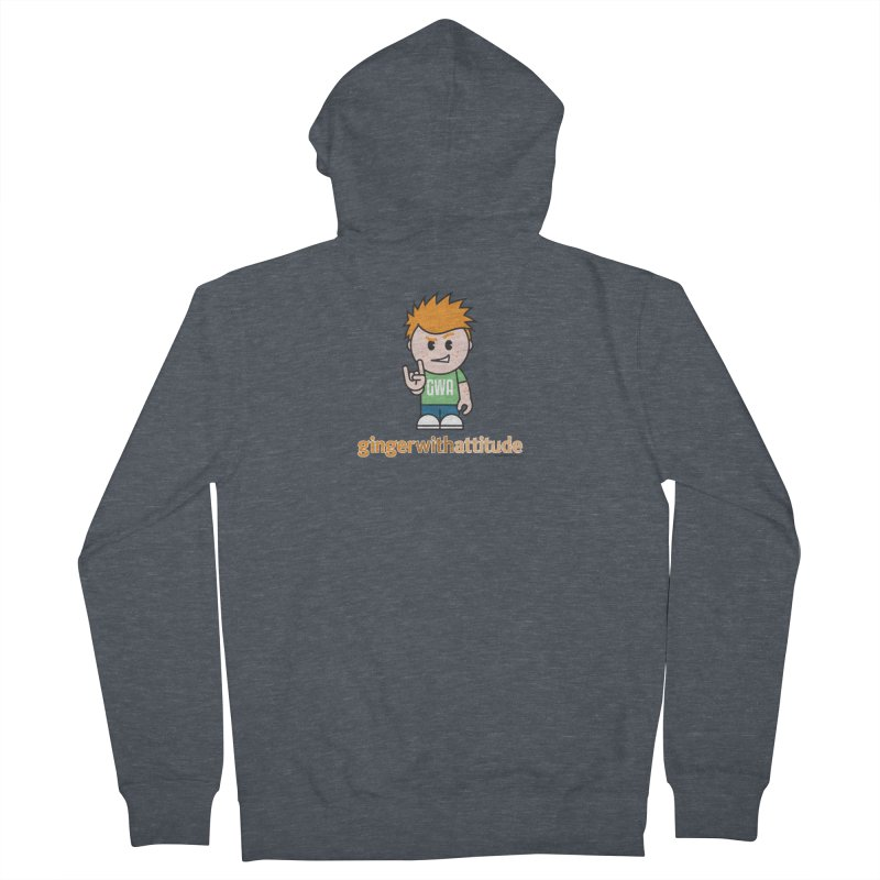 Original GWA Men's French Terry Zip-Up Hoody by Ginger With Attitude's Artist Shop