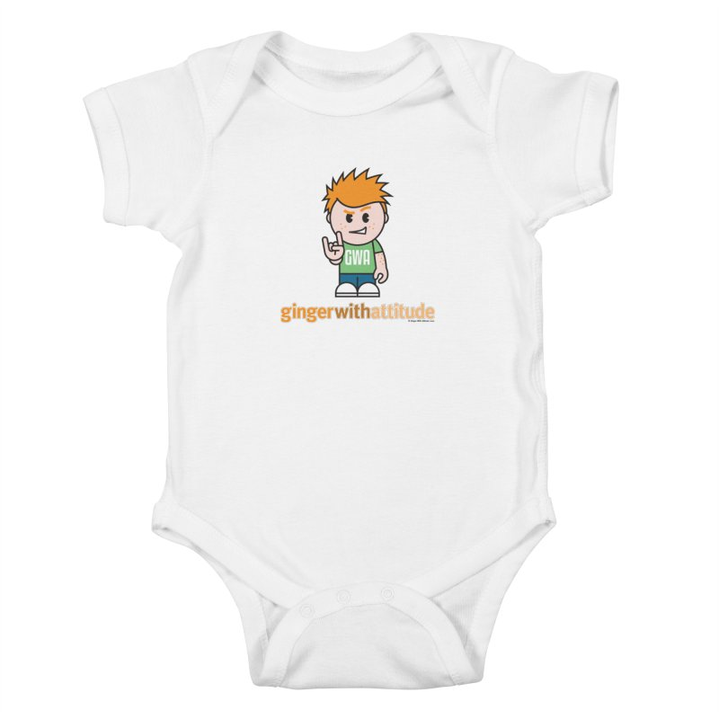 Original GWA Kids Baby Bodysuit by Ginger With Attitude's Artist Shop