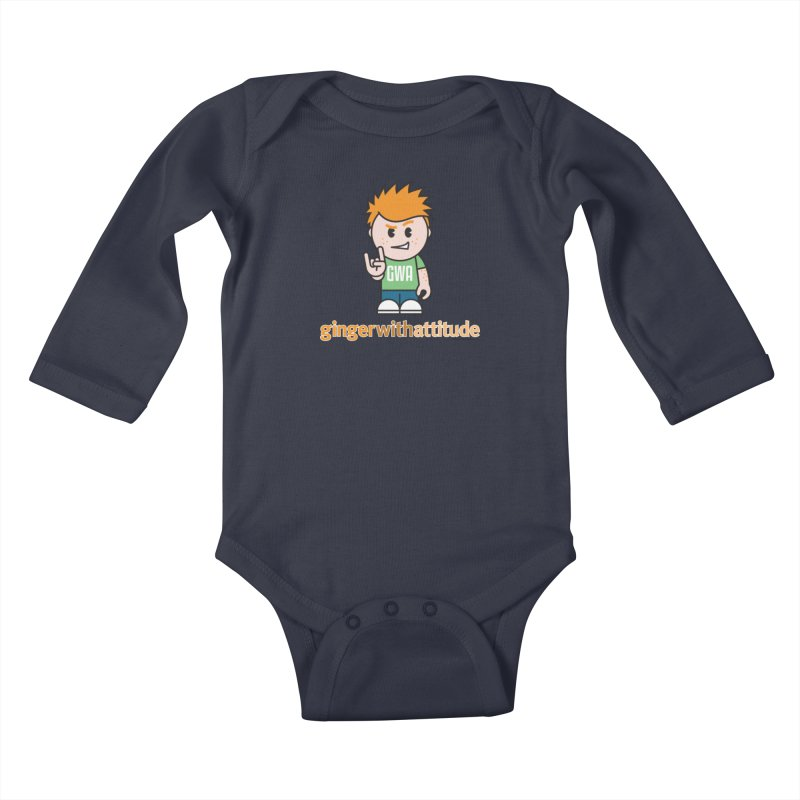 Original GWA Kids Baby Longsleeve Bodysuit by Ginger With Attitude's Artist Shop