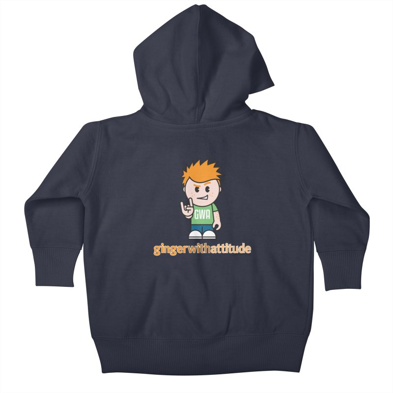 Original GWA Kids Baby Zip-Up Hoody by Ginger With Attitude's Artist Shop
