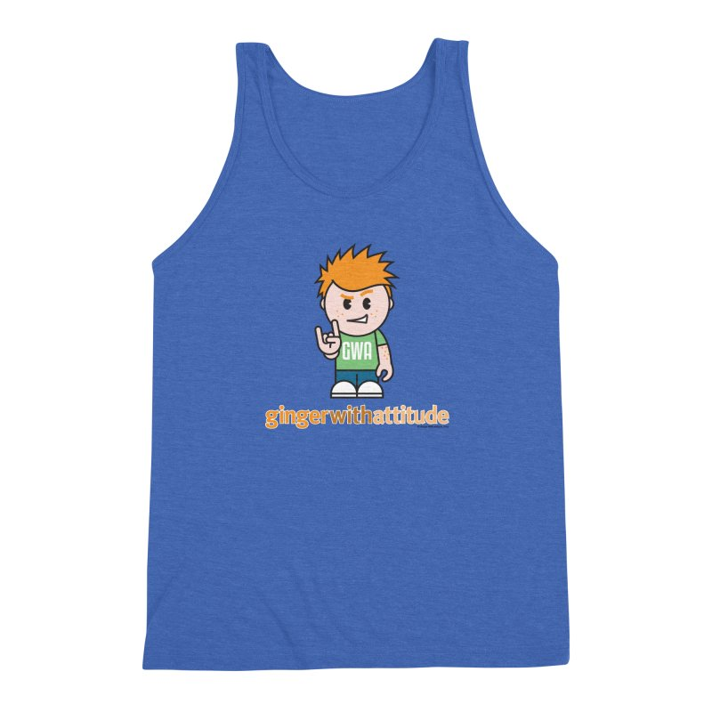 Original GWA Men's Triblend Tank by Ginger With Attitude's Artist Shop
