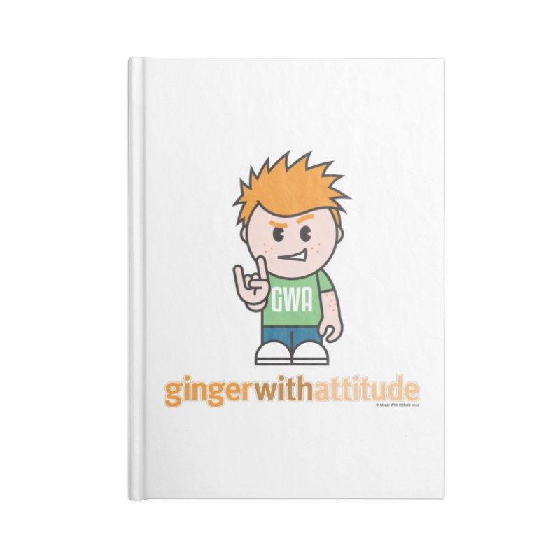 Original GWA Accessories Blank Journal Notebook by Ginger With Attitude's Artist Shop