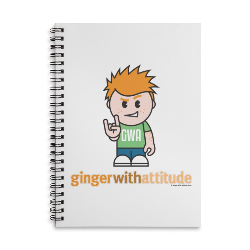 Original GWA Accessories Lined Spiral Notebook by Ginger With Attitude's Artist Shop