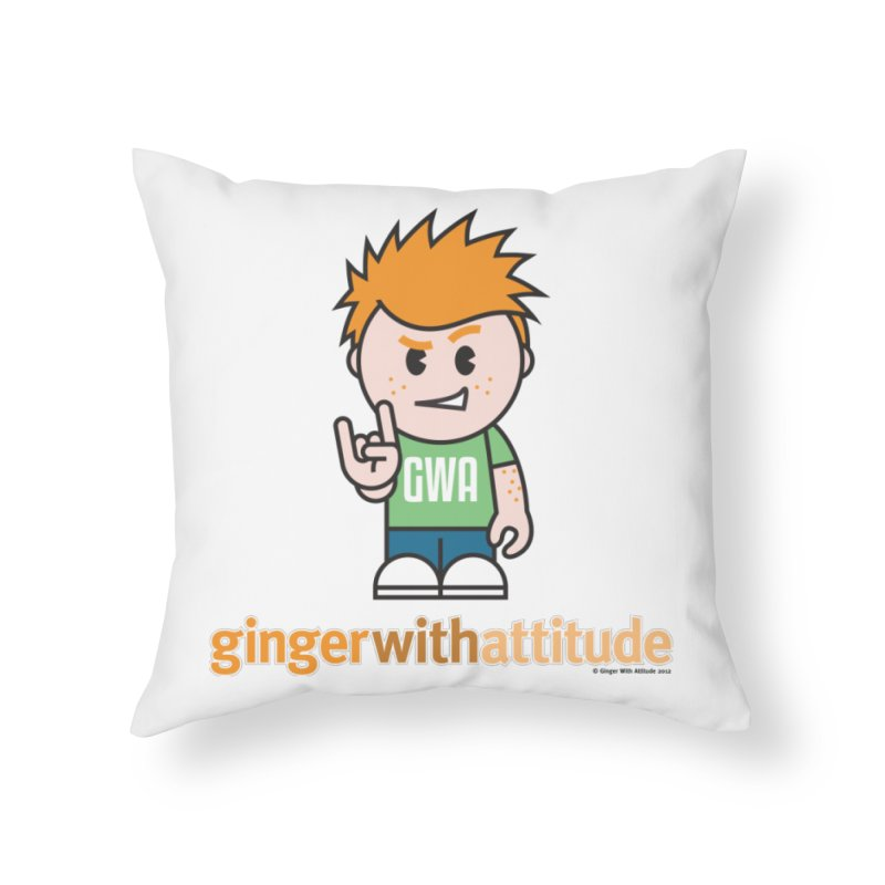 Original GWA Home Throw Pillow by Ginger With Attitude's Artist Shop