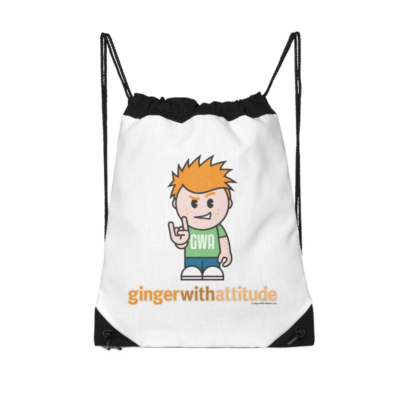 Original GWA Accessories Drawstring Bag Bag by Ginger With Attitude's Artist Shop