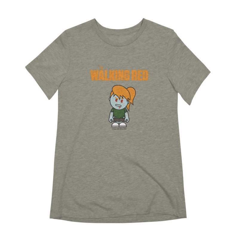 The Walking Red - Girl Women's T-Shirt by Ginger With Attitude's Artist Shop