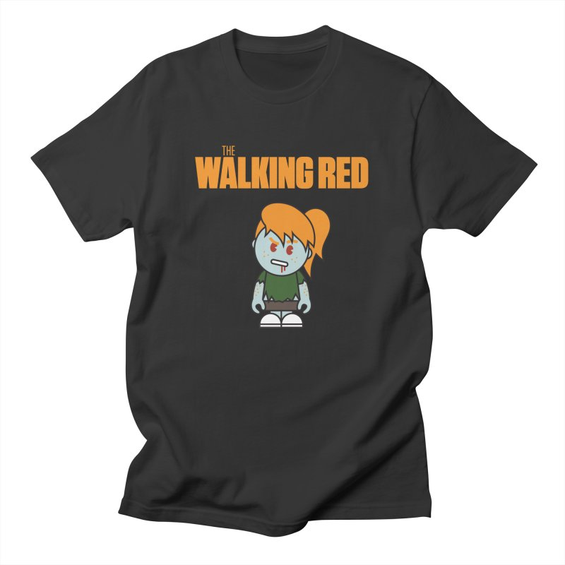 The Walking Red - Girl Men's T-Shirt by Ginger With Attitude's Artist Shop