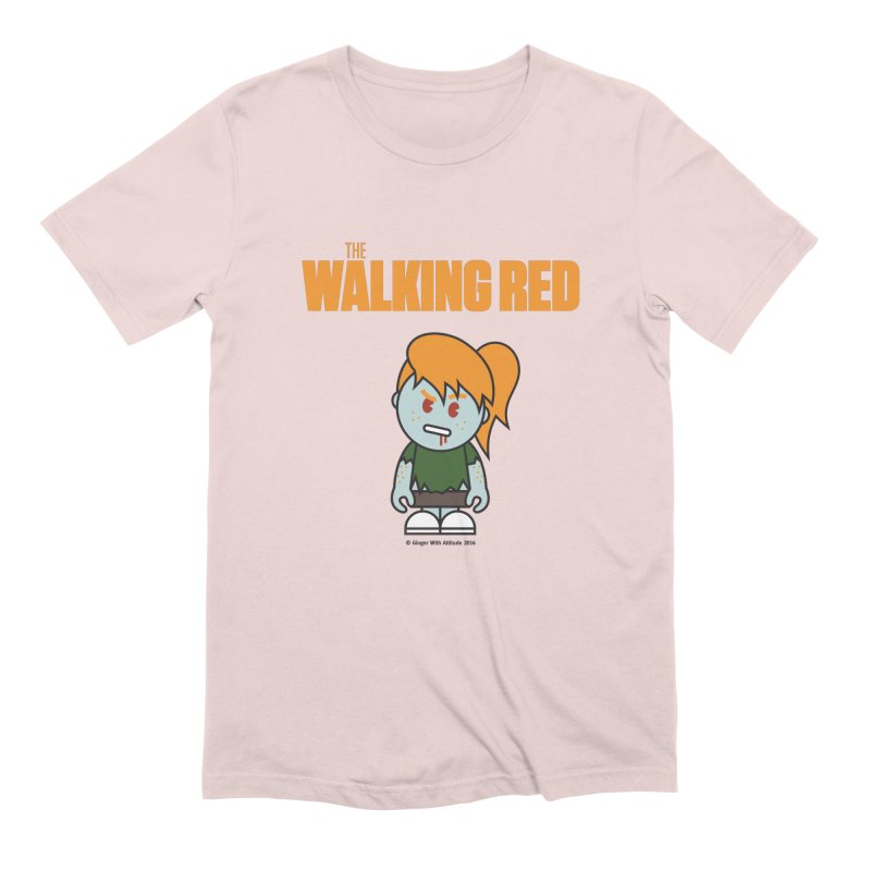 The Walking Red - Girl Men's Extra Soft T-Shirt by Ginger With Attitude's Artist Shop