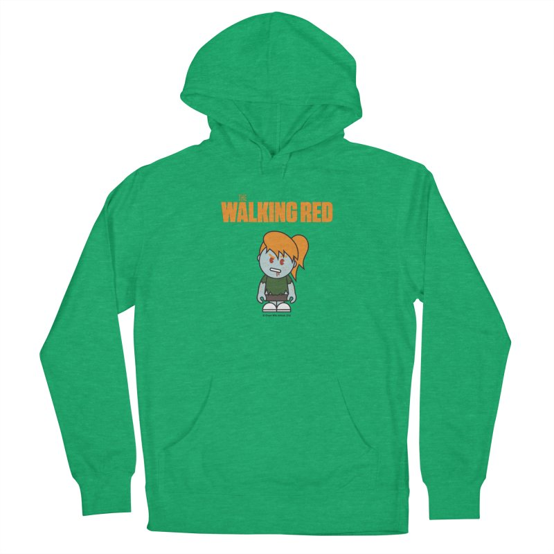 The Walking Red - Girl Women's Pullover Hoody by Ginger With Attitude's Artist Shop