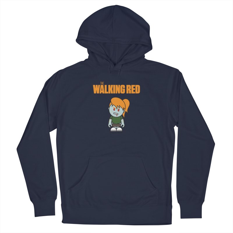 The Walking Red - Girl Men's Pullover Hoody by Ginger With Attitude's Artist Shop