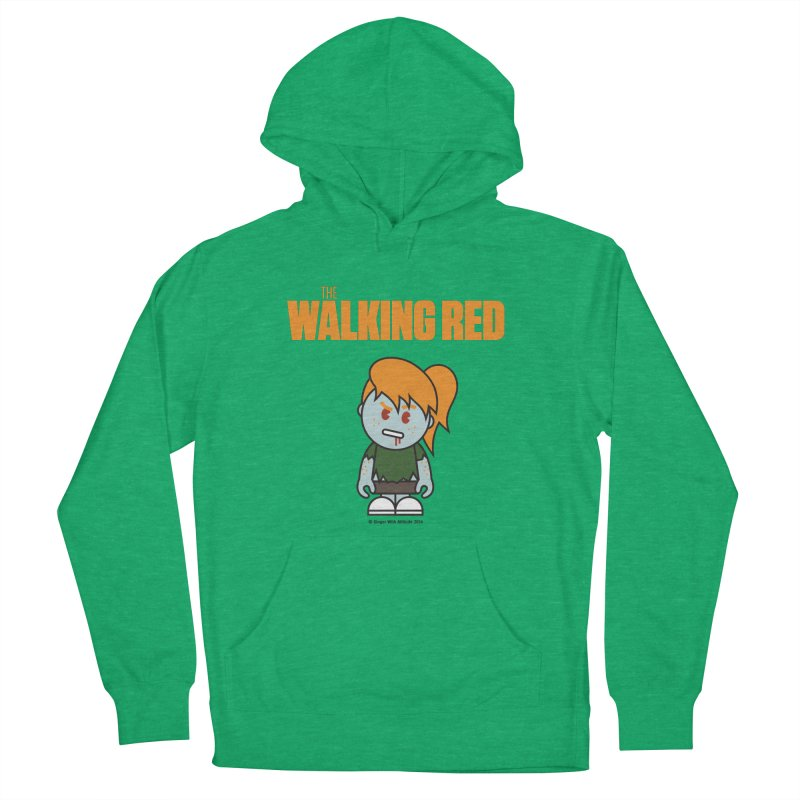 The Walking Red - Girl Women's French Terry Pullover Hoody by Ginger With Attitude's Artist Shop