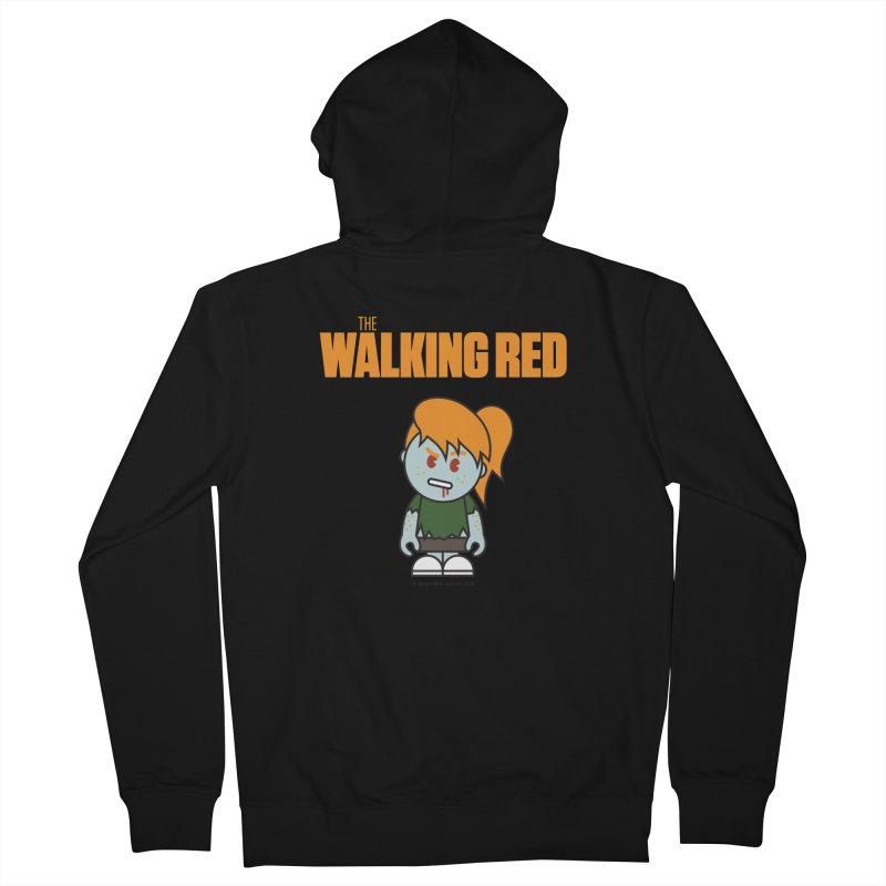 The Walking Red - Girl Women's Zip-Up Hoody by Ginger With Attitude's Artist Shop