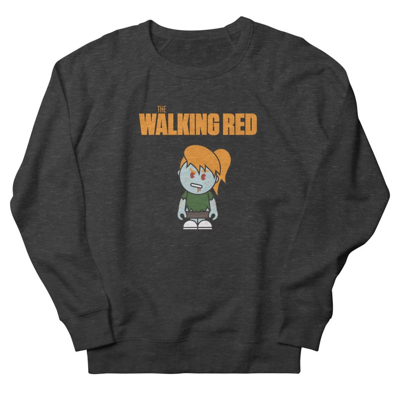 The Walking Red - Girl Women's French Terry Sweatshirt by Ginger With Attitude's Artist Shop