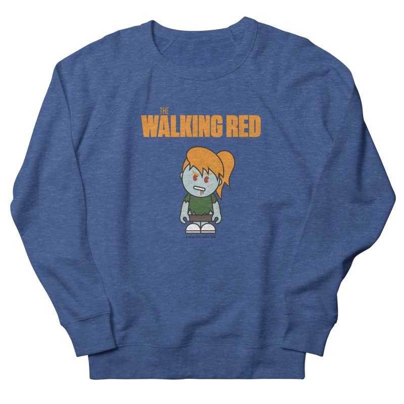 The Walking Red - Girl Men's Sweatshirt by Ginger With Attitude's Artist Shop
