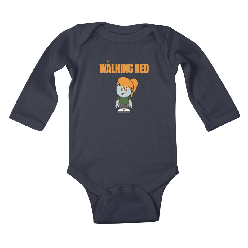 The Walking Red - Girl Kids Baby Longsleeve Bodysuit by Ginger With Attitude's Artist Shop