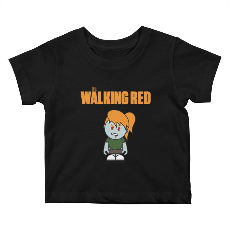 The Walking Red - Girl Kids Baby T-Shirt by Ginger With Attitude's Artist Shop