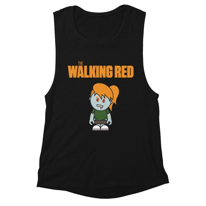 The Walking Red - Girl Women's Tank by Ginger With Attitude's Artist Shop