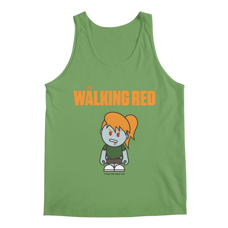 The Walking Red - Girl Men's Tank by Ginger With Attitude's Artist Shop