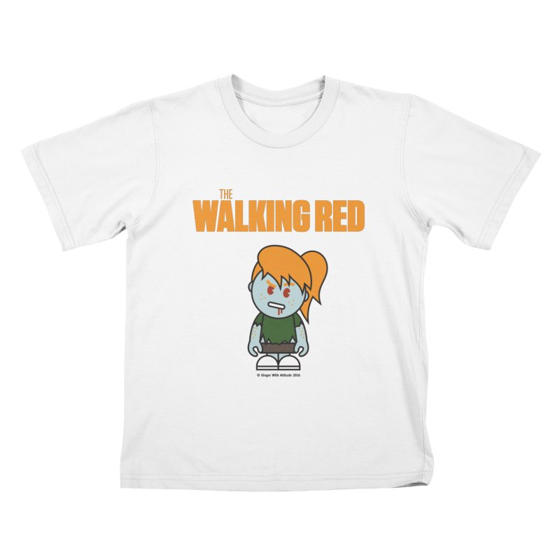 The Walking Red - Girl Kids T-Shirt by Ginger With Attitude's Artist Shop