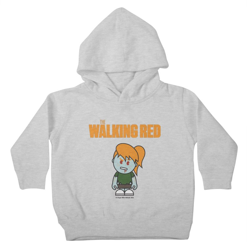 The Walking Red - Girl Kids Toddler Pullover Hoody by Ginger With Attitude's Artist Shop