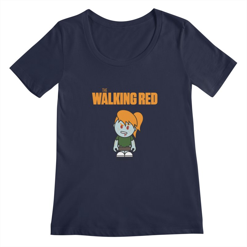 The Walking Red - Girl Women's Regular Scoop Neck by Ginger With Attitude's Artist Shop