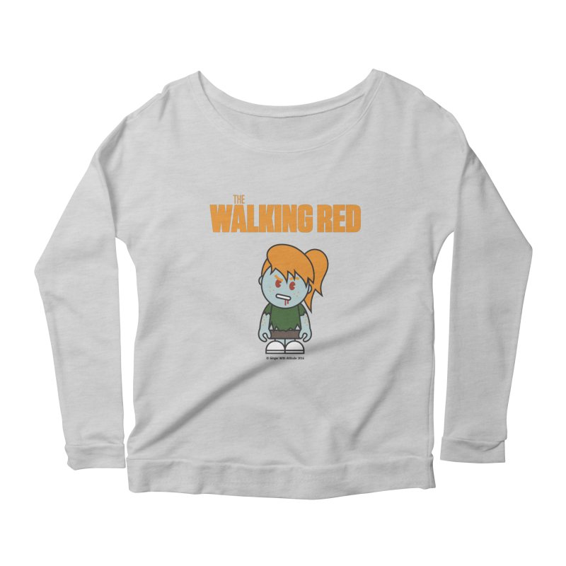 The Walking Red - Girl Women's Longsleeve Scoopneck  by Ginger With Attitude's Artist Shop