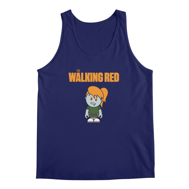 The Walking Red - Girl Men's Regular Tank by Ginger With Attitude's Artist Shop