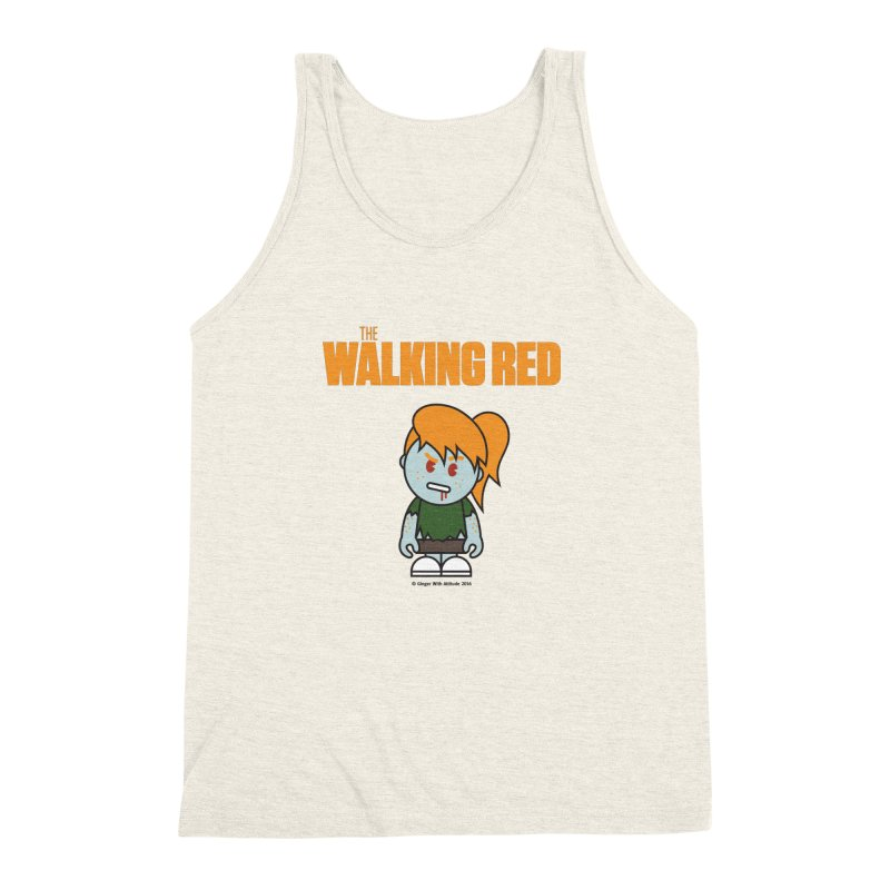 The Walking Red - Girl Men's Triblend Tank by Ginger With Attitude's Artist Shop