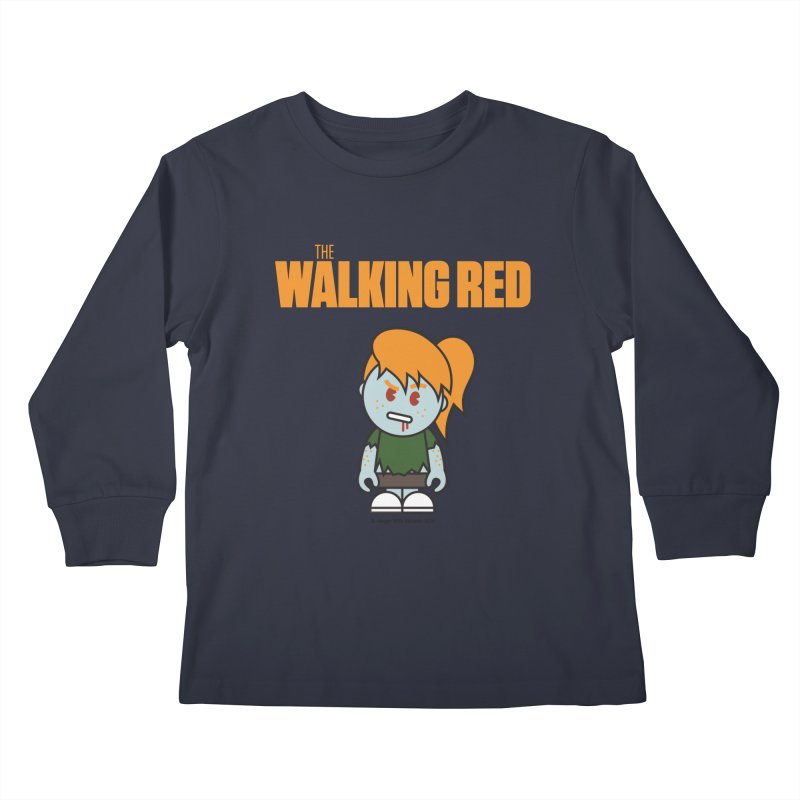 The Walking Red - Girl Kids Longsleeve T-Shirt by Ginger With Attitude's Artist Shop
