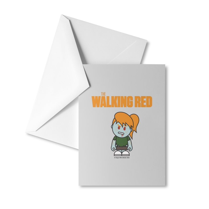 The Walking Red - Girl Accessories Greeting Card by Ginger With Attitude's Artist Shop