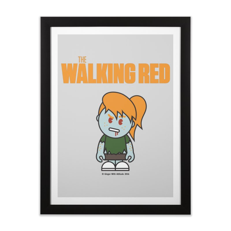 The Walking Red - Girl Home Framed Fine Art Print by Ginger With Attitude's Artist Shop