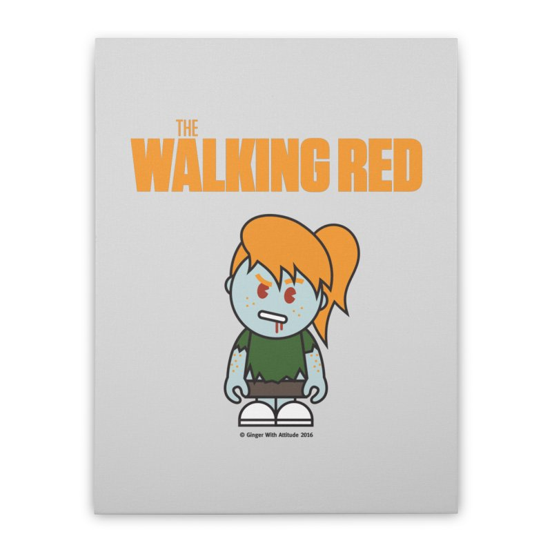 The Walking Red - Girl Home Stretched Canvas by Ginger With Attitude's Artist Shop
