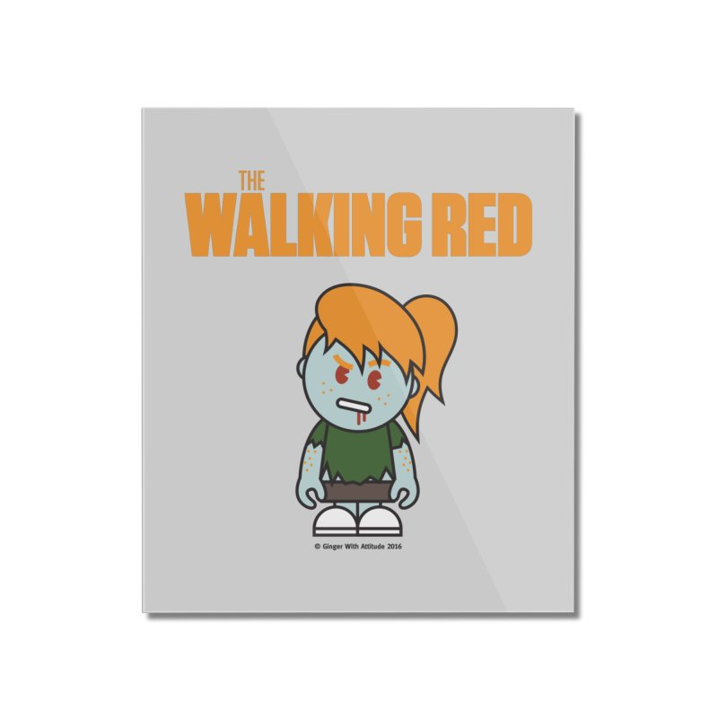 The Walking Red - Girl Home Mounted Acrylic Print by Ginger With Attitude's Artist Shop