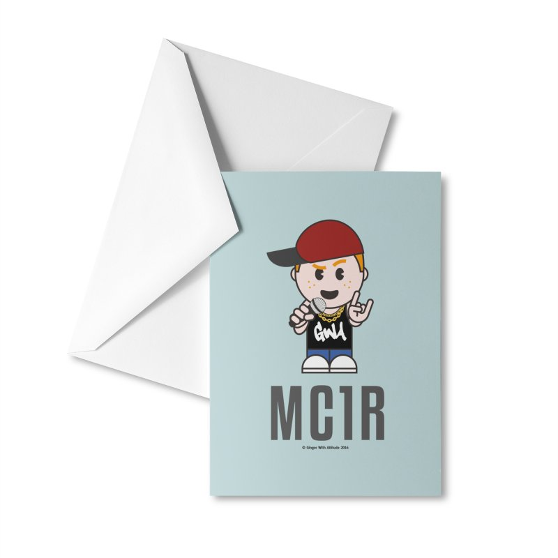 MC1R Accessories Greeting Card by Ginger With Attitude's Artist Shop