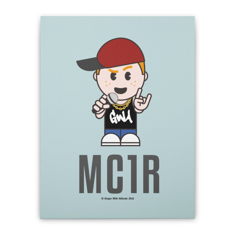MC1R Home Stretched Canvas by Ginger With Attitude's Artist Shop