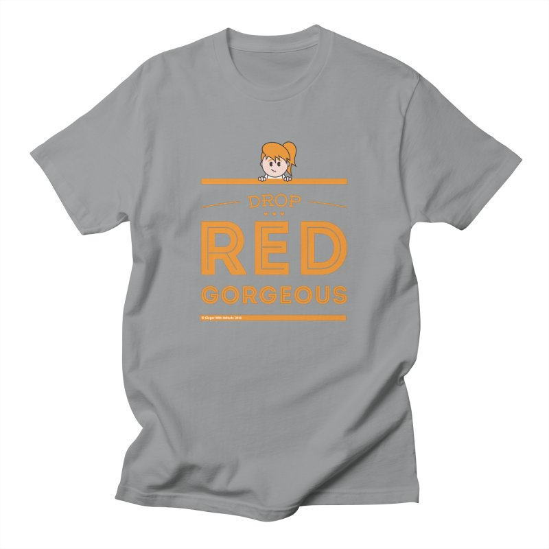 Drop Red Gorgeous Men's T-Shirt by Ginger With Attitude's Artist Shop