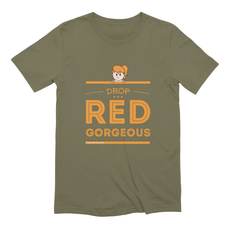 Drop Red Gorgeous Men's Extra Soft T-Shirt by Ginger With Attitude's Artist Shop