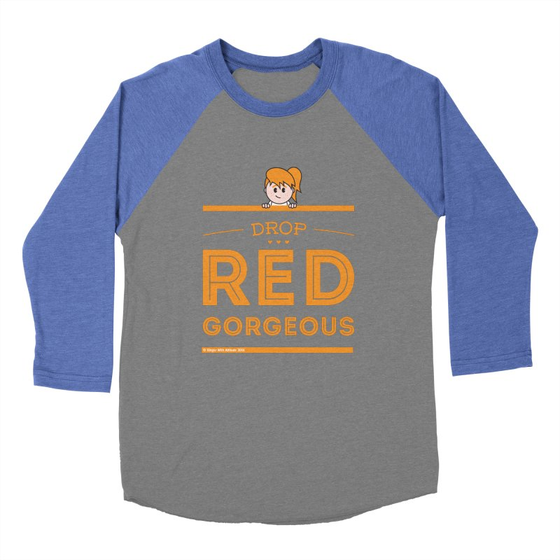 Drop Red Gorgeous Women's Longsleeve T-Shirt by Ginger With Attitude's Artist Shop