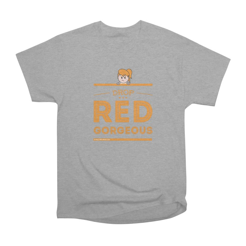 Drop Red Gorgeous Men's Classic T-Shirt by Ginger With Attitude's Artist Shop