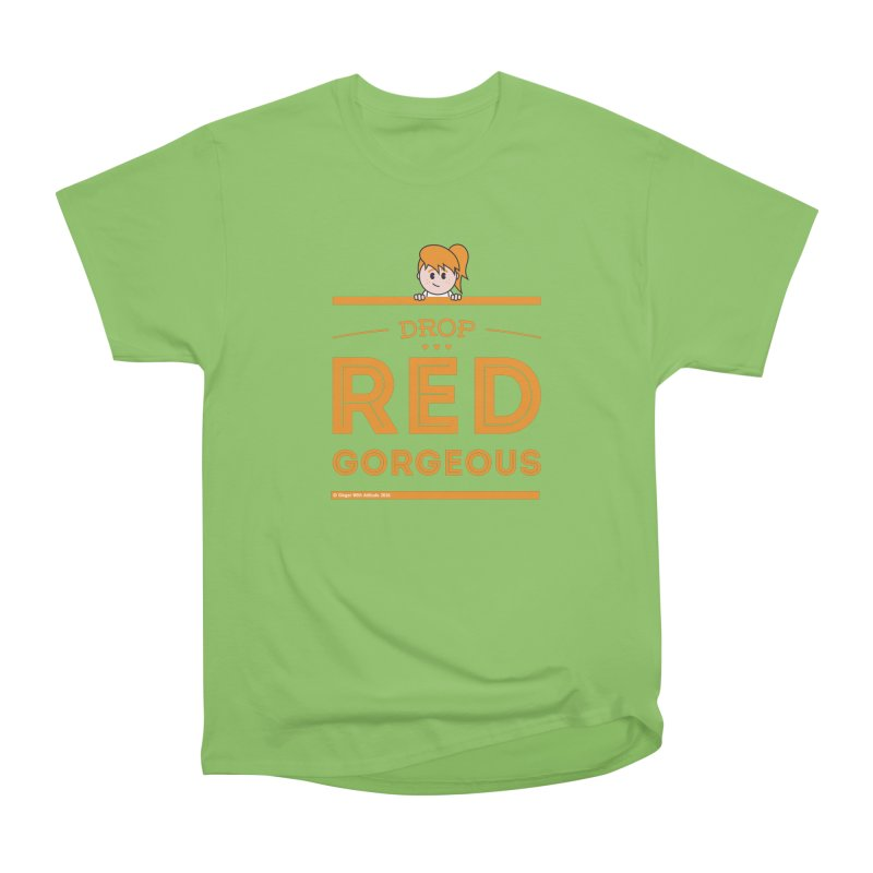 Drop Red Gorgeous Men's Heavyweight T-Shirt by Ginger With Attitude's Artist Shop