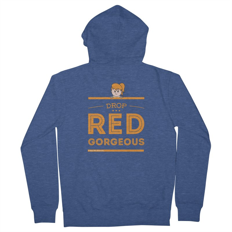 Drop Red Gorgeous Men's Zip-Up Hoody by Ginger With Attitude's Artist Shop
