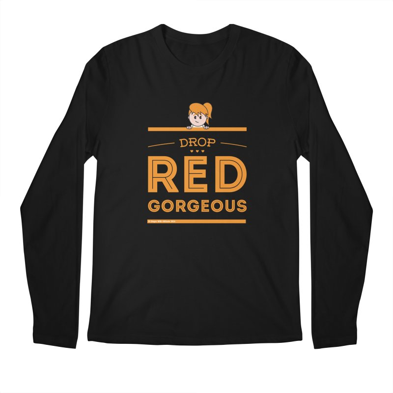 Drop Red Gorgeous Men's Longsleeve T-Shirt by Ginger With Attitude's Artist Shop