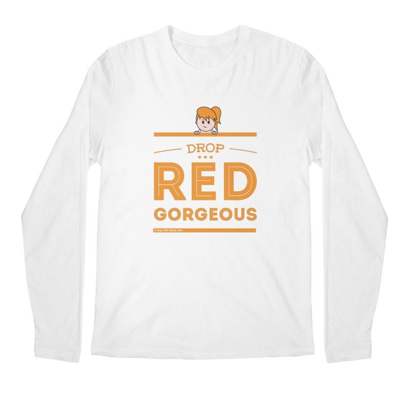 Drop Red Gorgeous Men's Regular Longsleeve T-Shirt by Ginger With Attitude's Artist Shop