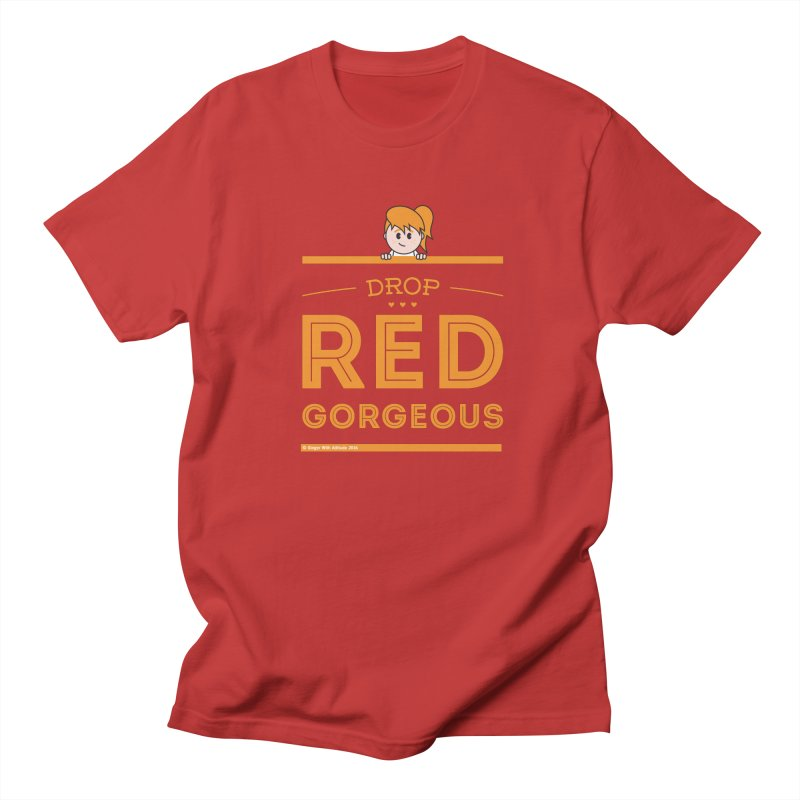 Drop Red Gorgeous Men's Regular T-Shirt by Ginger With Attitude's Artist Shop