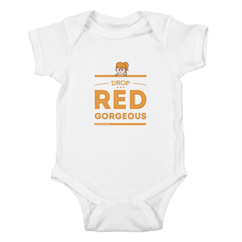 Drop Red Gorgeous Kids Baby Bodysuit by Ginger With Attitude's Artist Shop