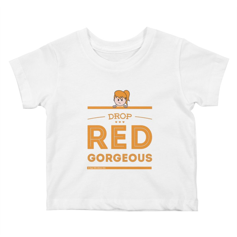 Drop Red Gorgeous Kids Baby T-Shirt by Ginger With Attitude's Artist Shop