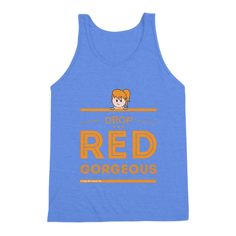 Drop Red Gorgeous Men's Triblend Tank by Ginger With Attitude's Artist Shop