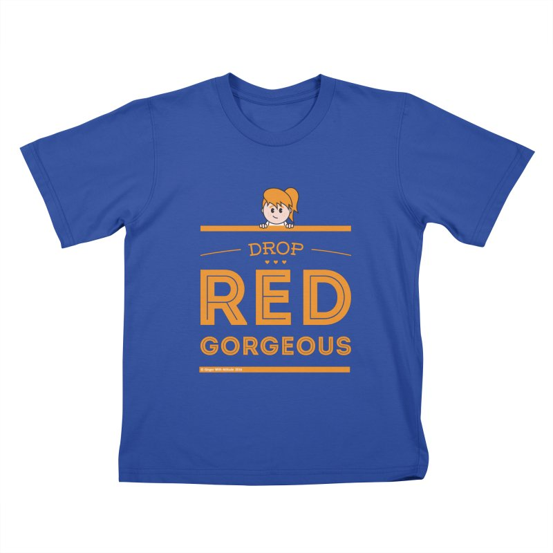 Drop Red Gorgeous Kids T-Shirt by Ginger With Attitude's Artist Shop