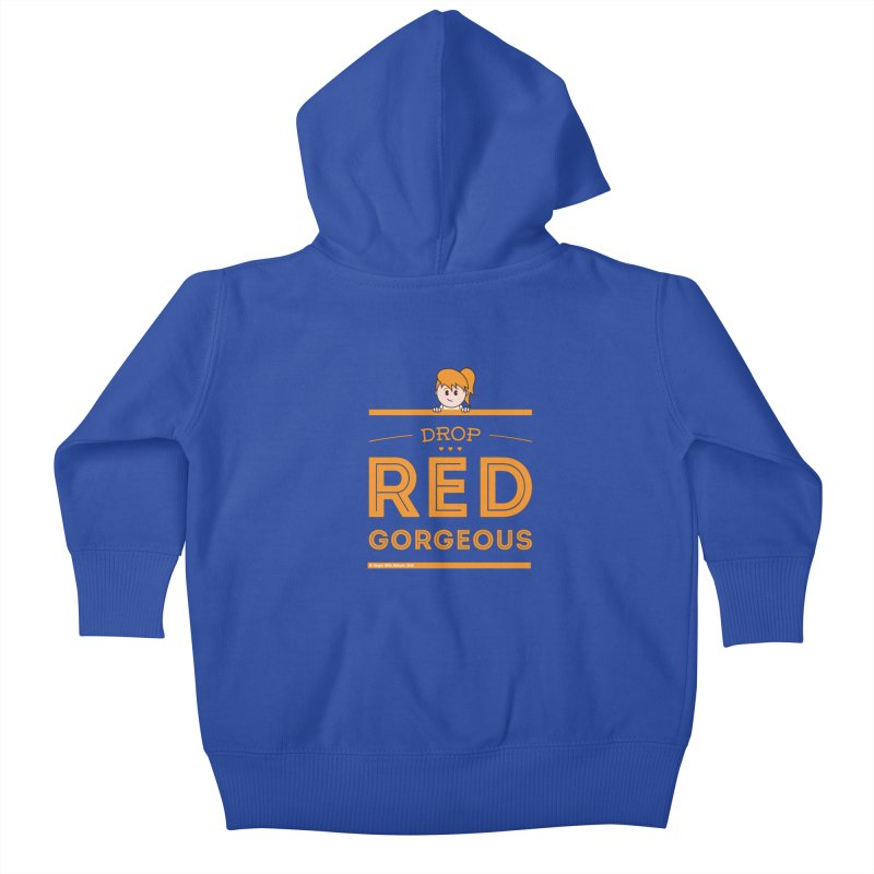 Drop Red Gorgeous Kids Baby Zip-Up Hoody by Ginger With Attitude's Artist Shop