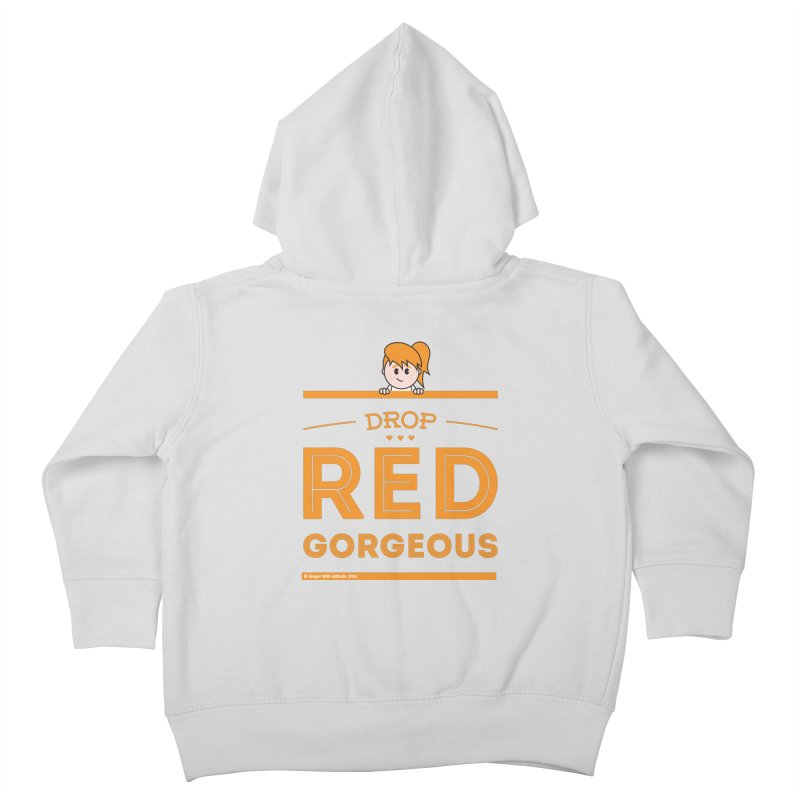 Drop Red Gorgeous Kids Toddler Zip-Up Hoody by Ginger With Attitude's Artist Shop